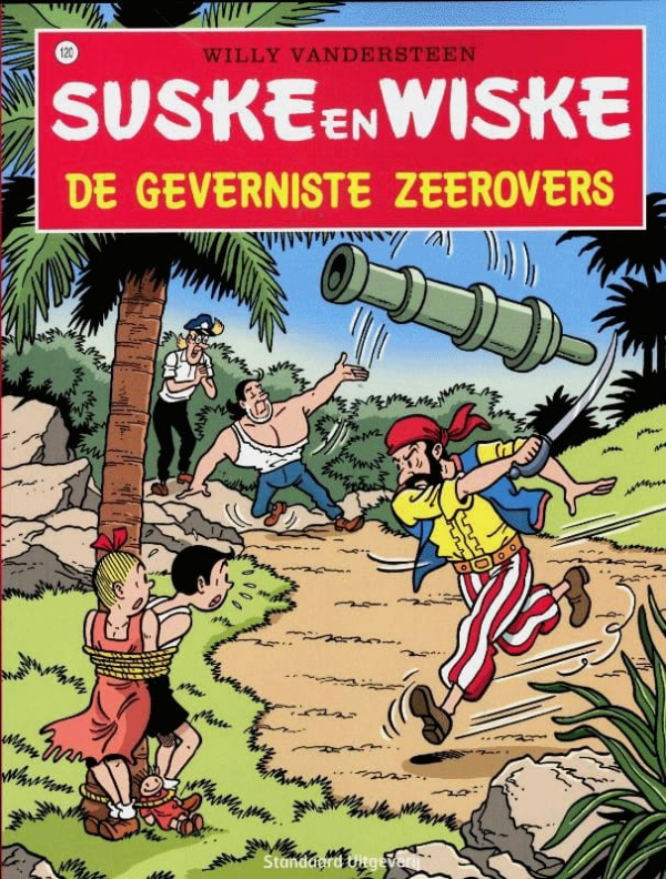 120 - Suske en Wiske - De geverniste zeerovers - Nieuwe cover