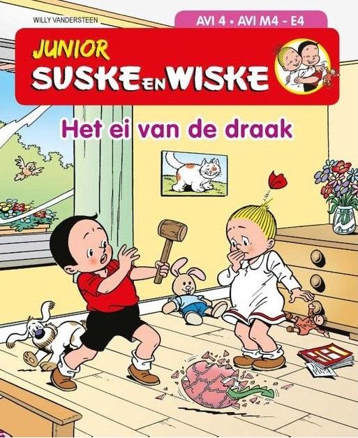 Junior Suske en Wiske - Het ei van de draak - Gebonden boekje - AVI 3